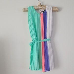 Tommy Hilfiger big girls multi color pleated dress